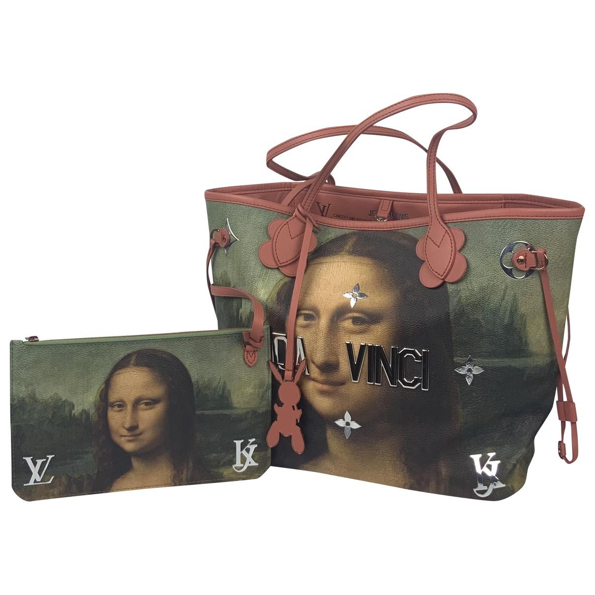 Bolso  Neverfull de Cuero Louis Vuitton