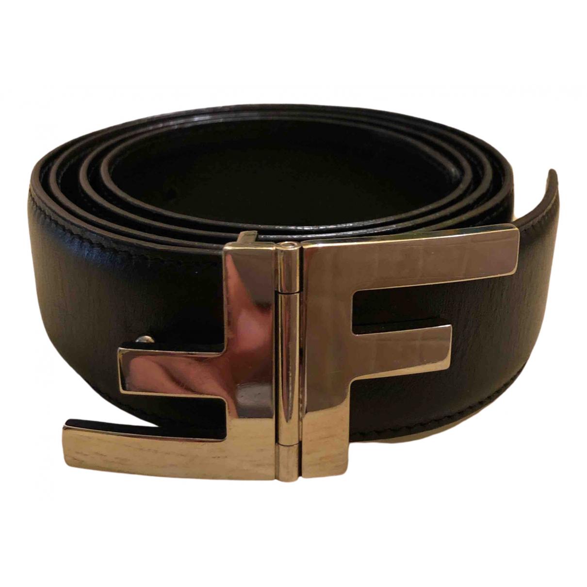 Fendi \N Black Leather belt for Women 95 cm