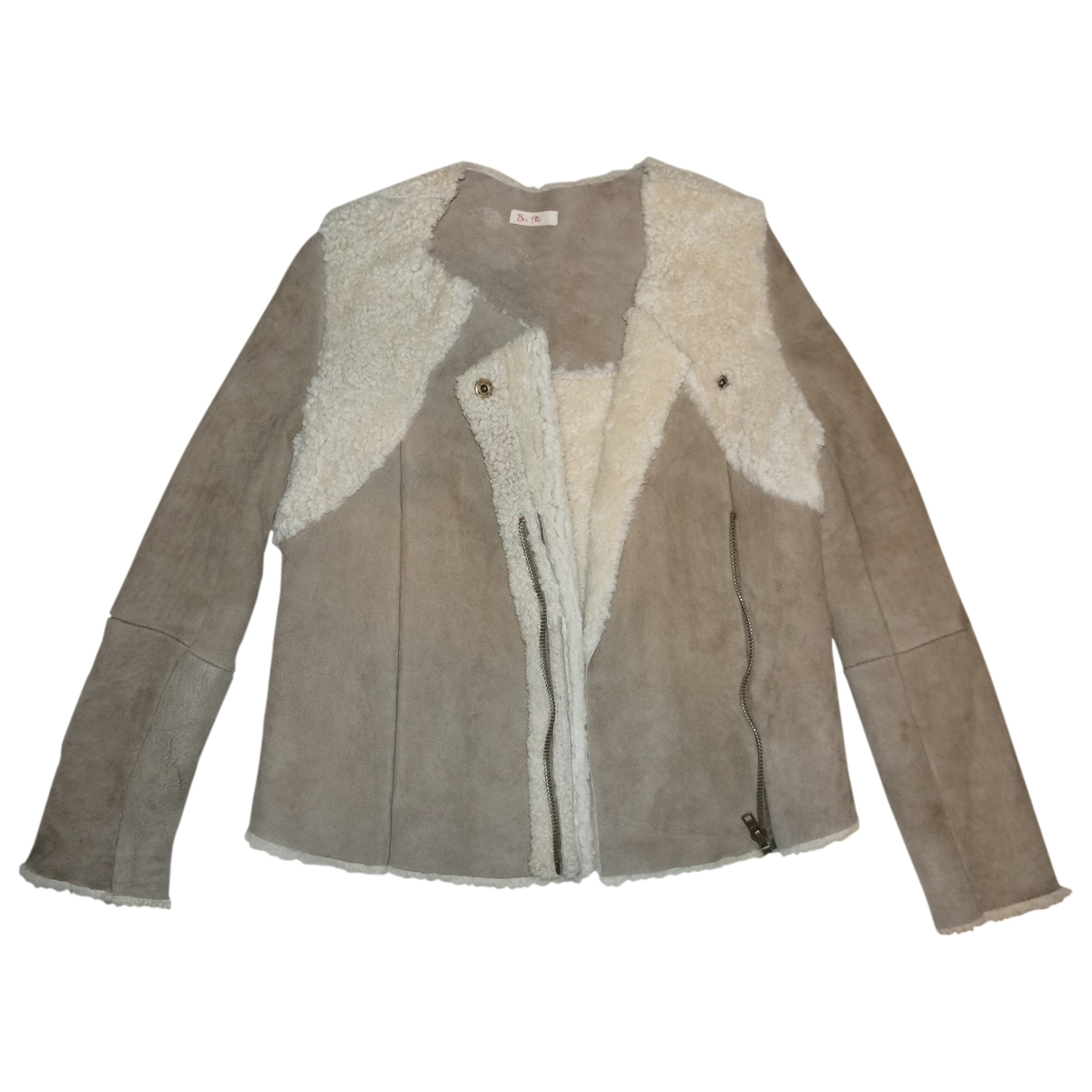 Bel Air \N Beige Leather Leather jacket for Women 2 0-5