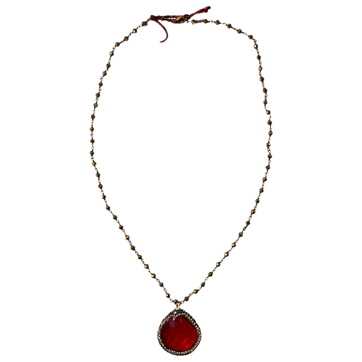 Non Signé / Unsigned N Multicolour Metal necklace for Women N