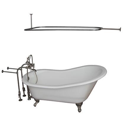TKCTSN60-SN3 Tub Kit 60 CI Slipper  Shower Rd  Filler  Supplies  Drain-Brush