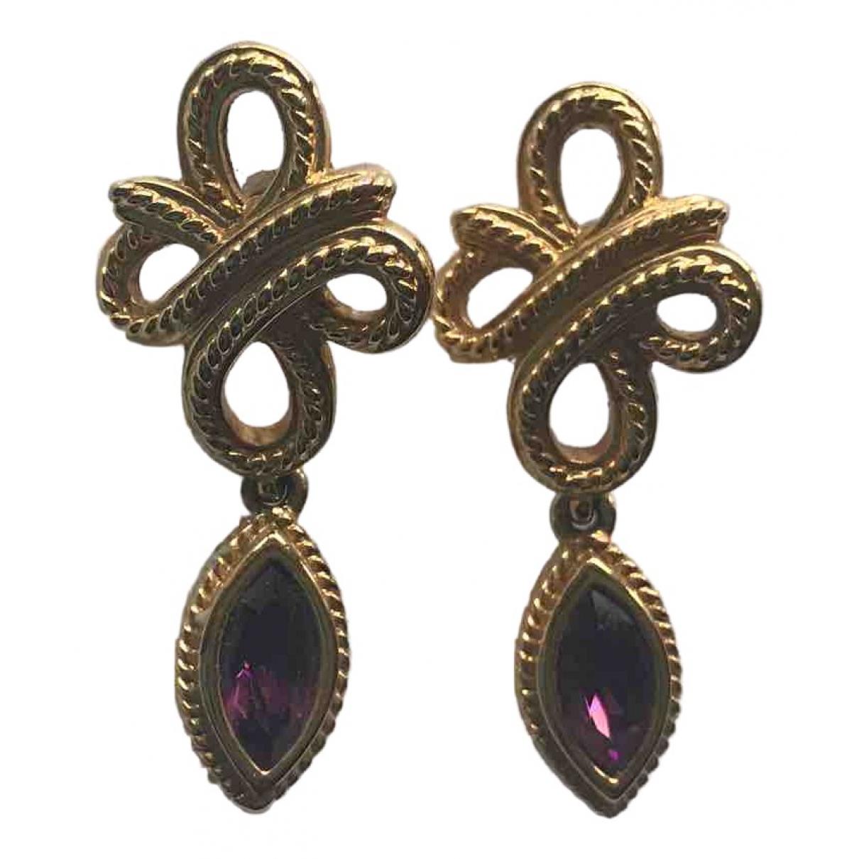 Swarovski - Boucles doreilles   pour femme en cristal - violet