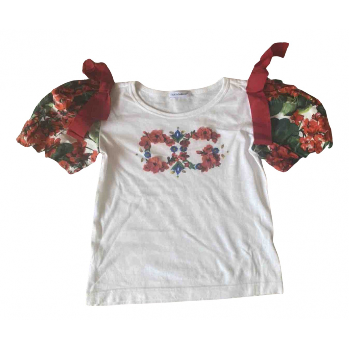 Dolce & Gabbana N White Cotton  top for Kids 6 years - up to 114cm FR