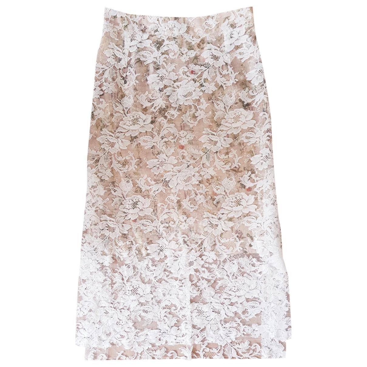 Preen By Thornton Bregazzi \N White Silk skirt for Women XS International