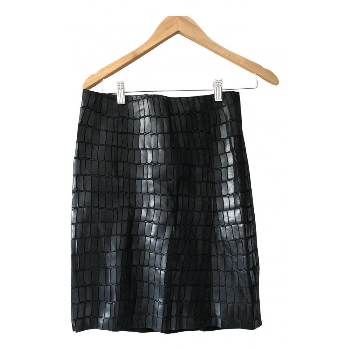 Kaufmanfranco - Jupe   pour femme en cuir - noir