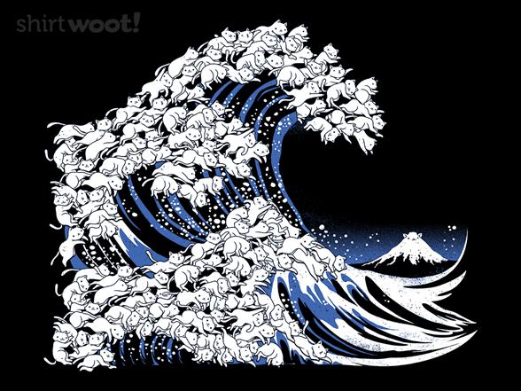 Kanagawa Cat Wave T Shirt