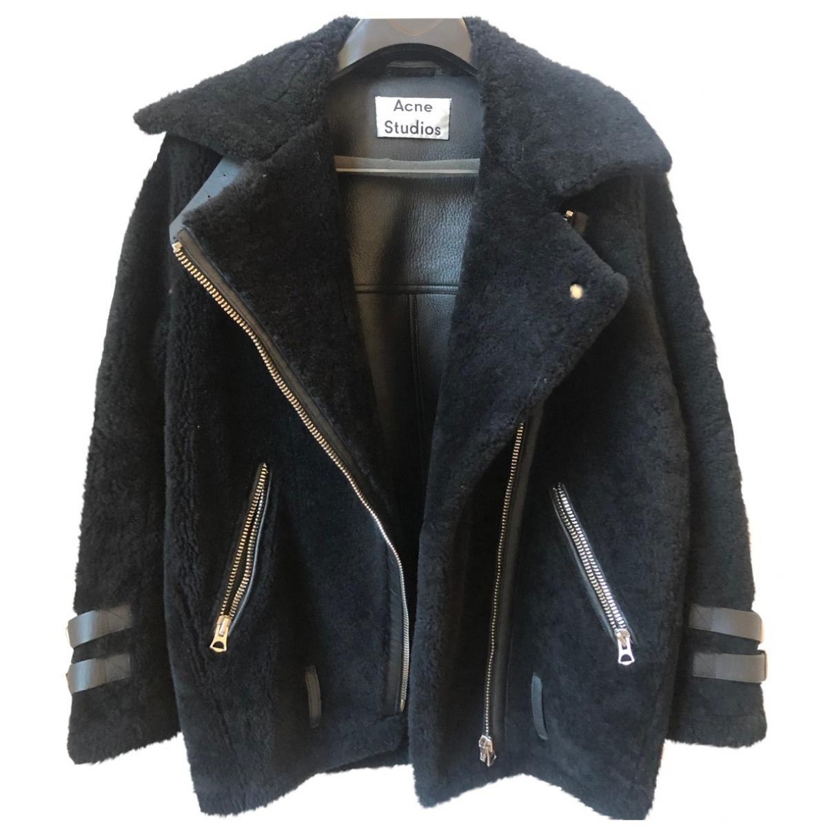 Acne Studios Velocite Black Shearling Leather jacket for Women XXS International