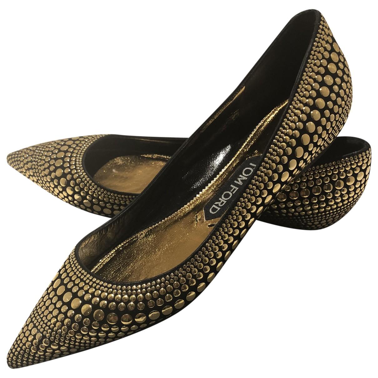 Tom Ford - Ballerines   pour femme en cuir - noir