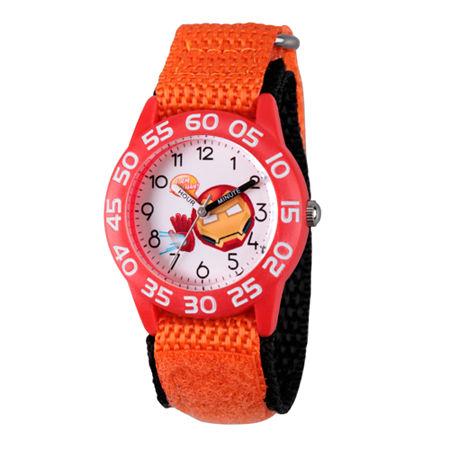 Marvel Emoji Marvel Boys Orange Strap Watch-Wma000078, One Size , No Color Family