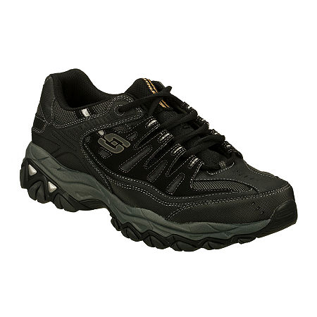 Skechers After Burn Memory Fit Mens Athletic Shoes, 11 Medium, Gray