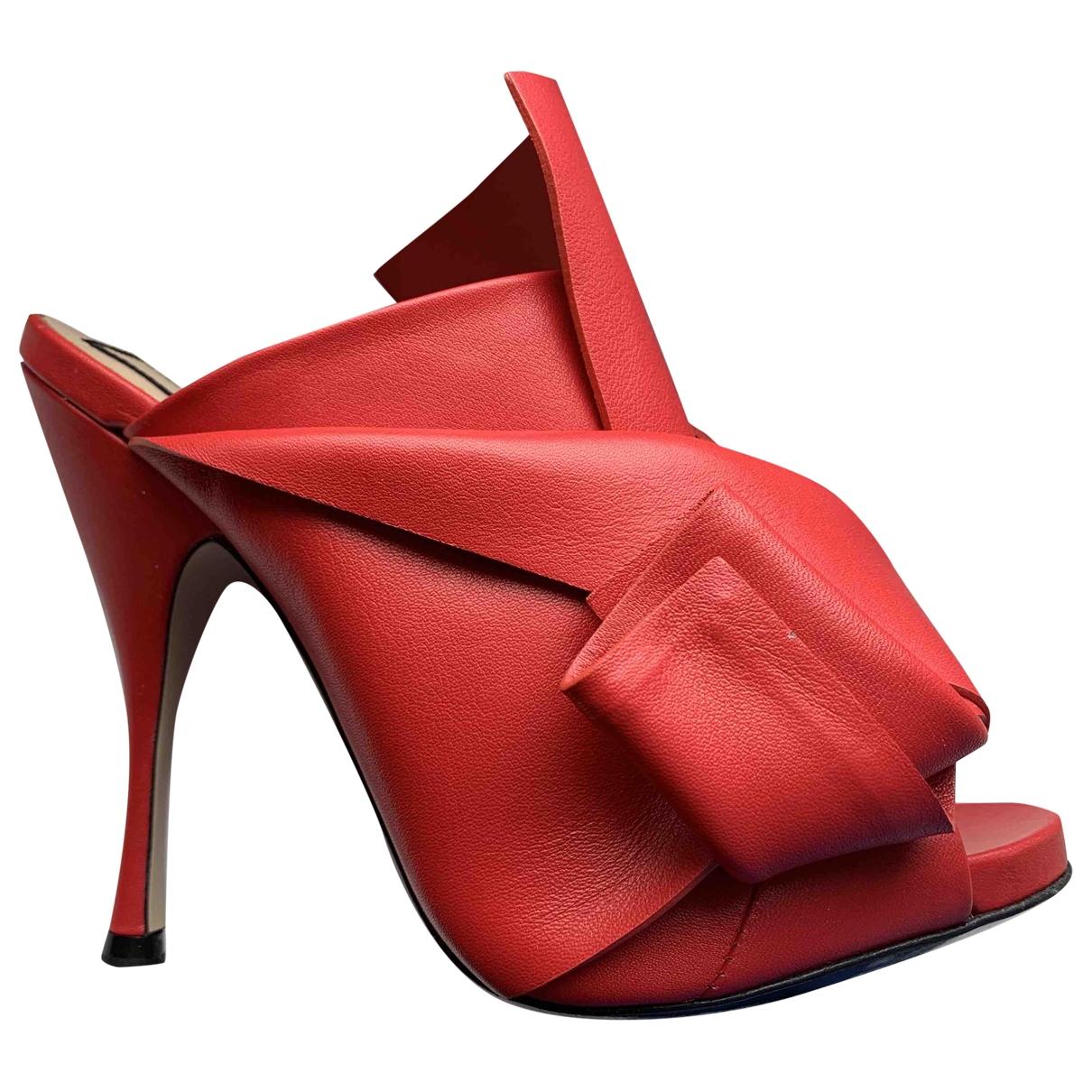 Sandalias de Cuero N°21