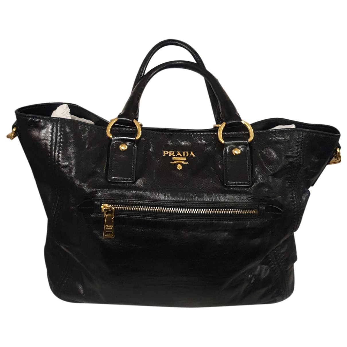 Prada N Black Leather handbag for Women N