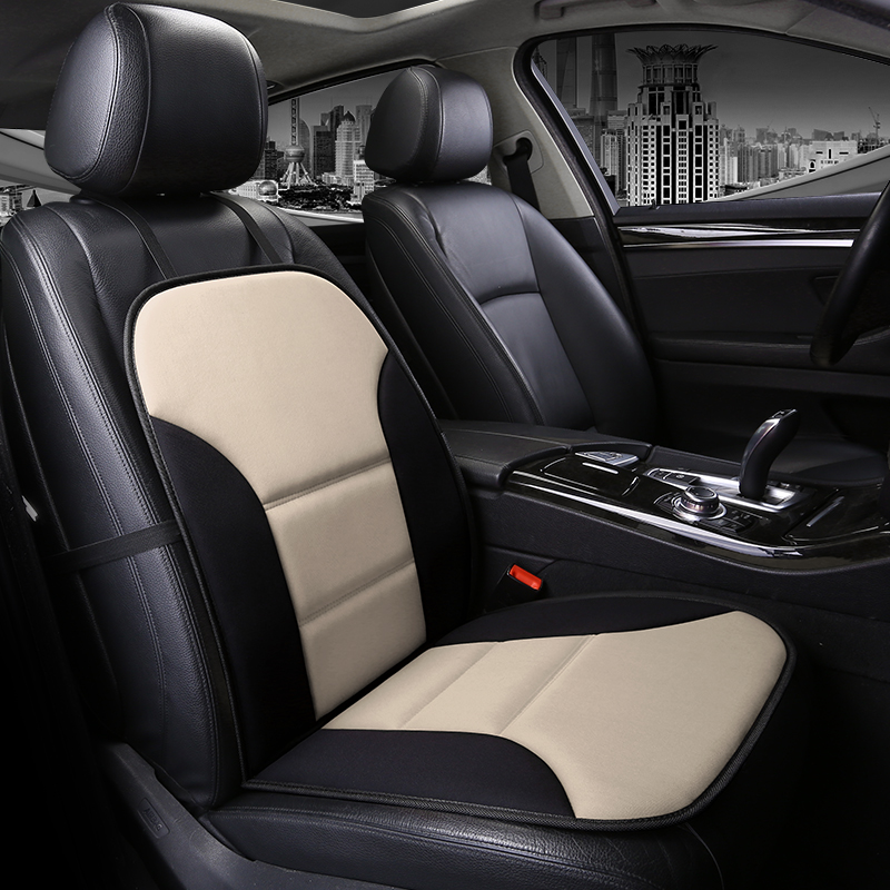 Simple Style Color Matching PU Leather Front Single-seat Car Seat Cover