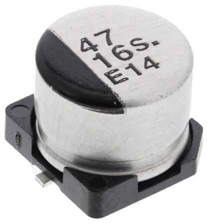 Panasonic 47μF Electrolytic Capacitor 16V dc, Surface Mount - EEE1CA470SP (5)