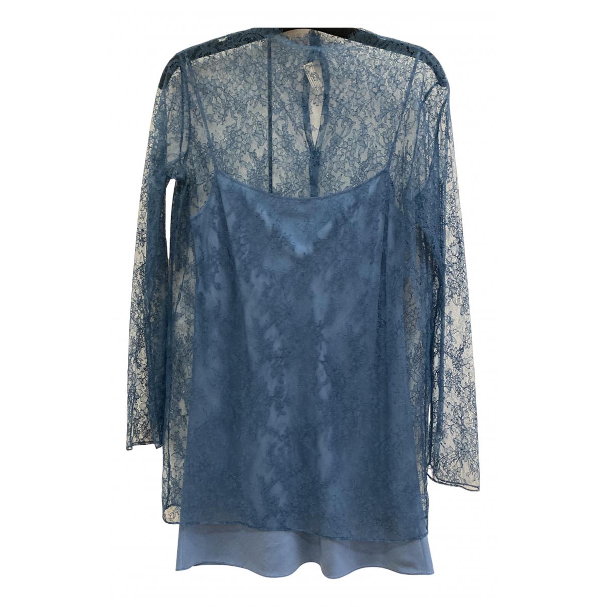 Nina Ricci - Top   pour femme en dentelle - bleu