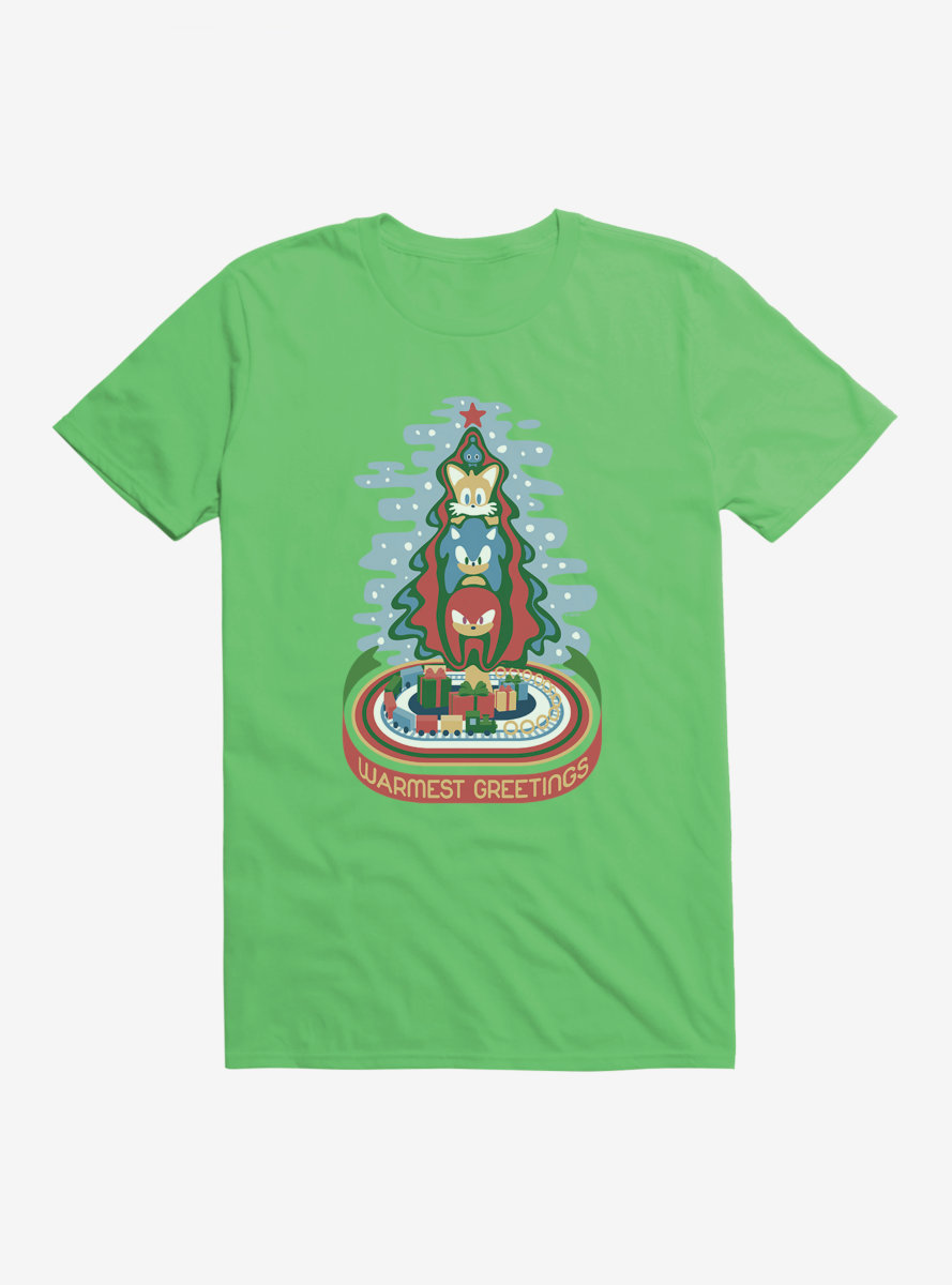 Sonic The Hedgehog Winter Warmest Greetings T-Shirt