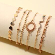 6 Stuecke Armband mit rundem Dekor