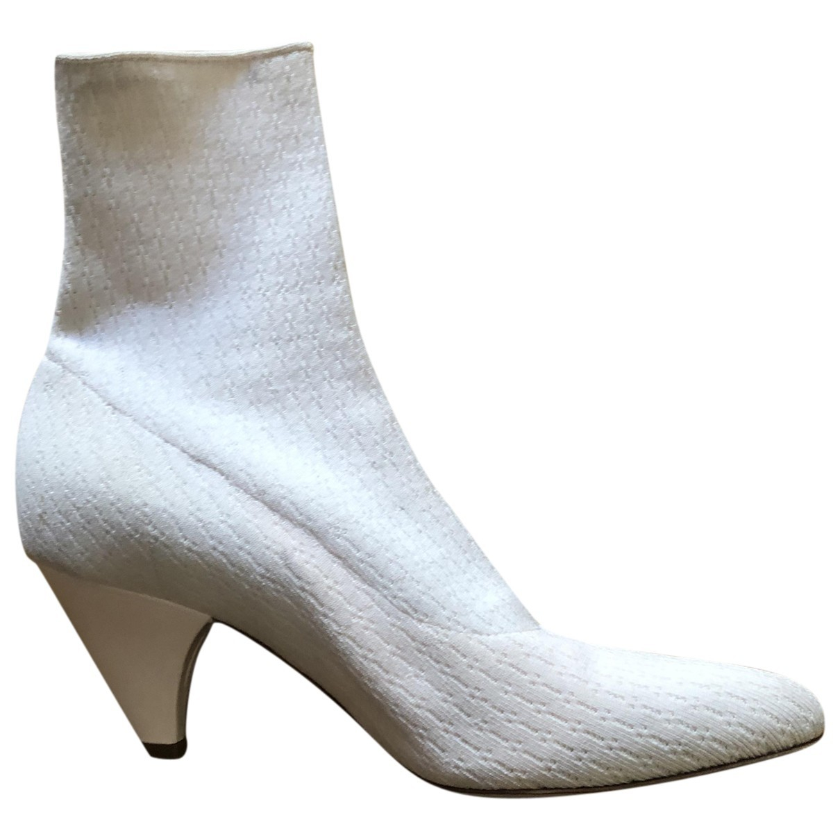 Laurence Dacade \N Ecru Cloth Ankle boots for Women 38 EU