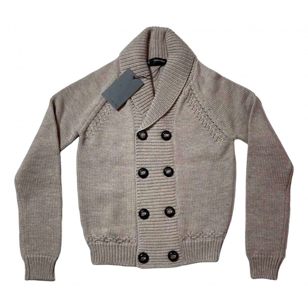 Dsquared2 \N Pullover.Westen.Sweatshirts  in  Beige Wolle