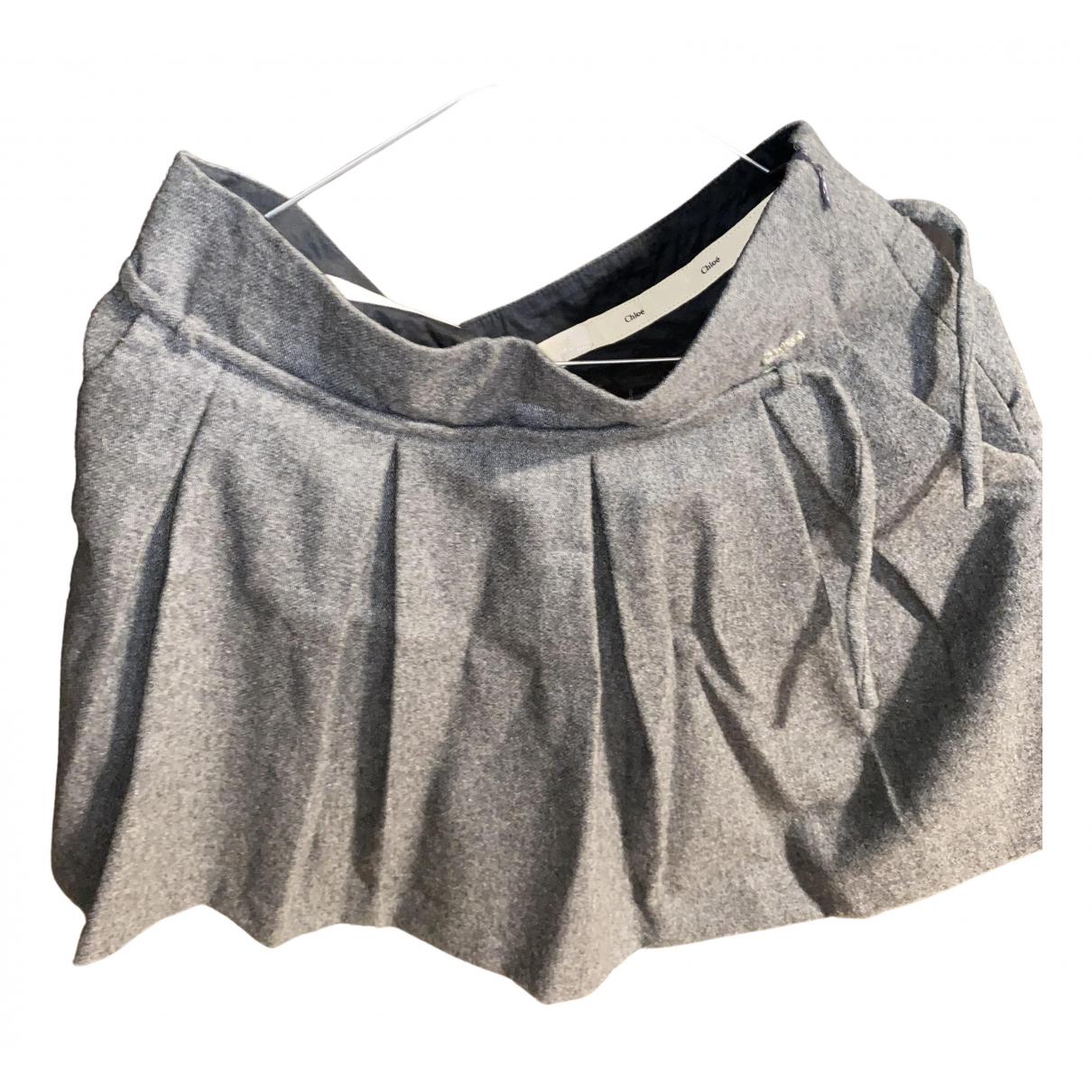 Chloe - Jupe   pour femme en laine - gris