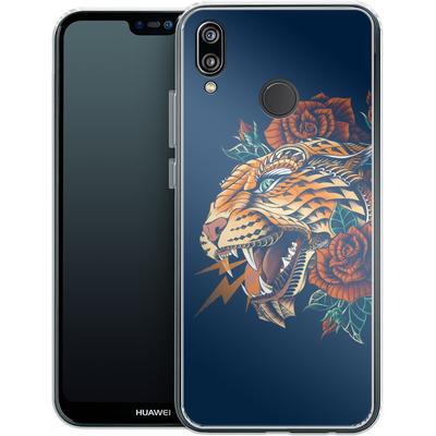 Huawei P20 Lite Silikon Handyhuelle - Ornate Leopard von BIOWORKZ