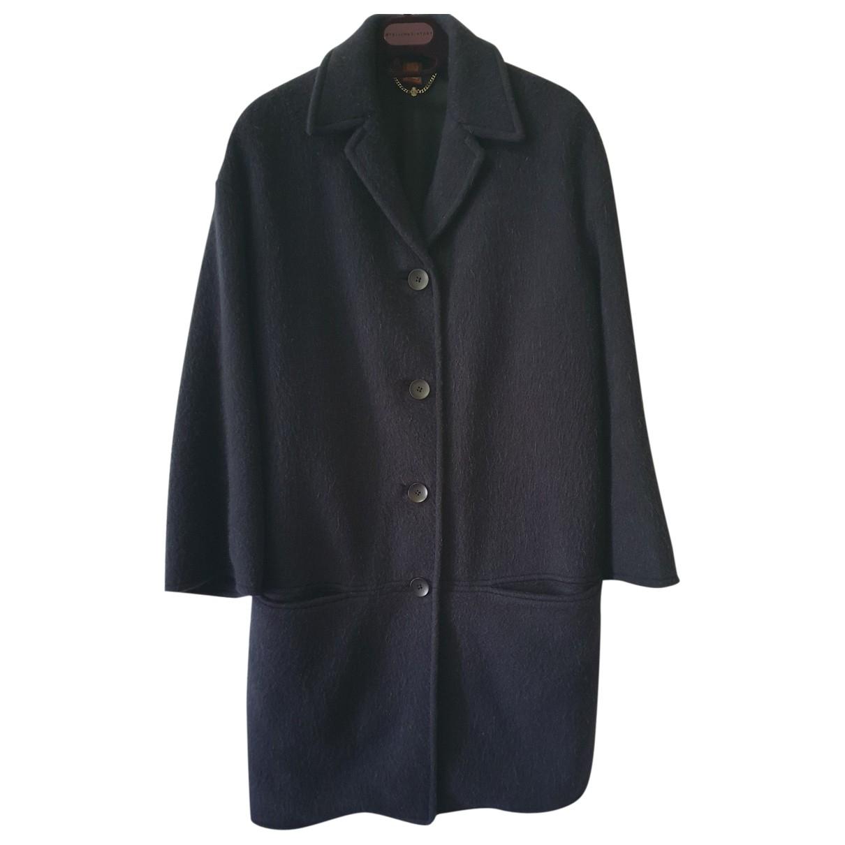 Dondup - Manteau   pour femme en laine - bleu