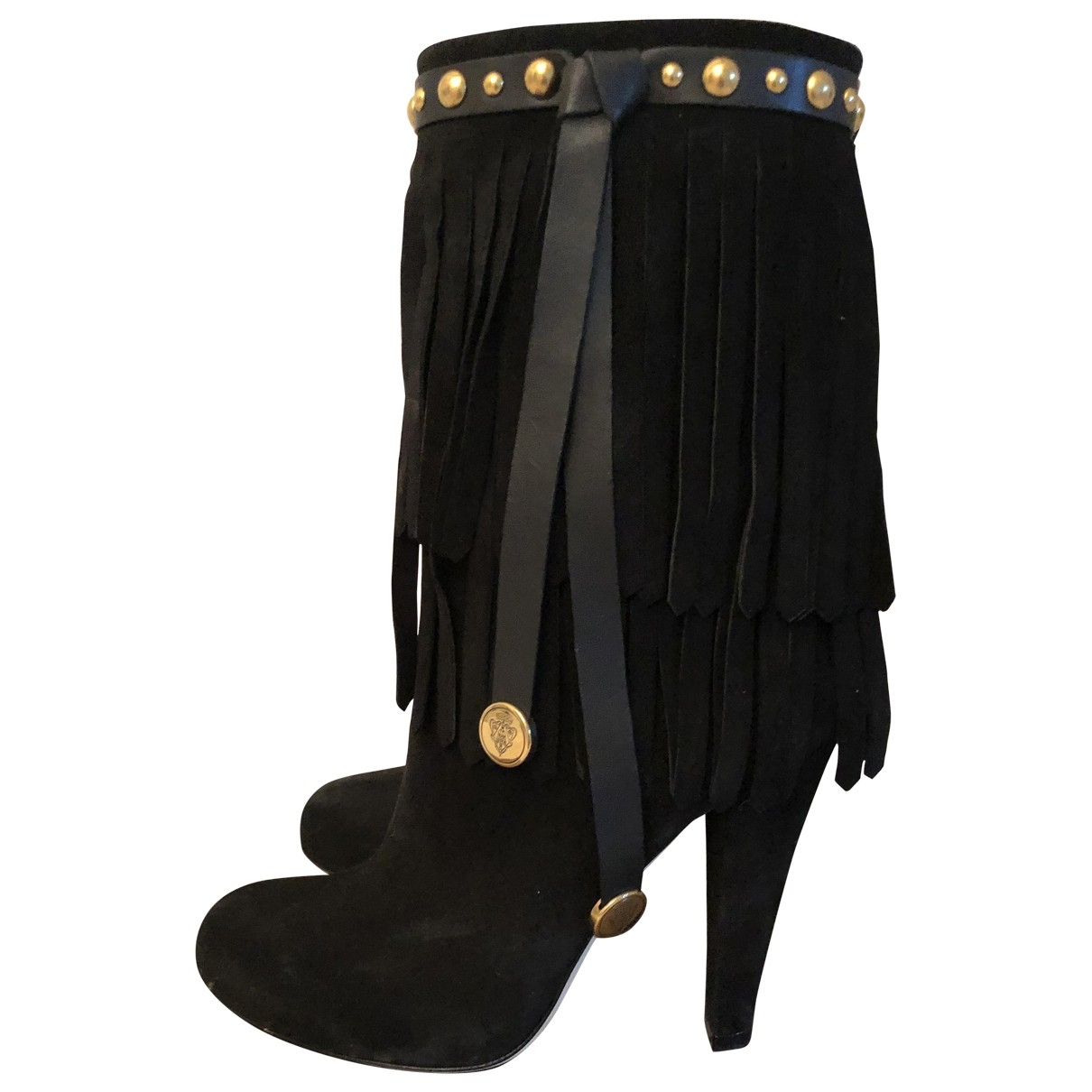 Gucci \N Black Suede Ankle boots for Women 36 EU