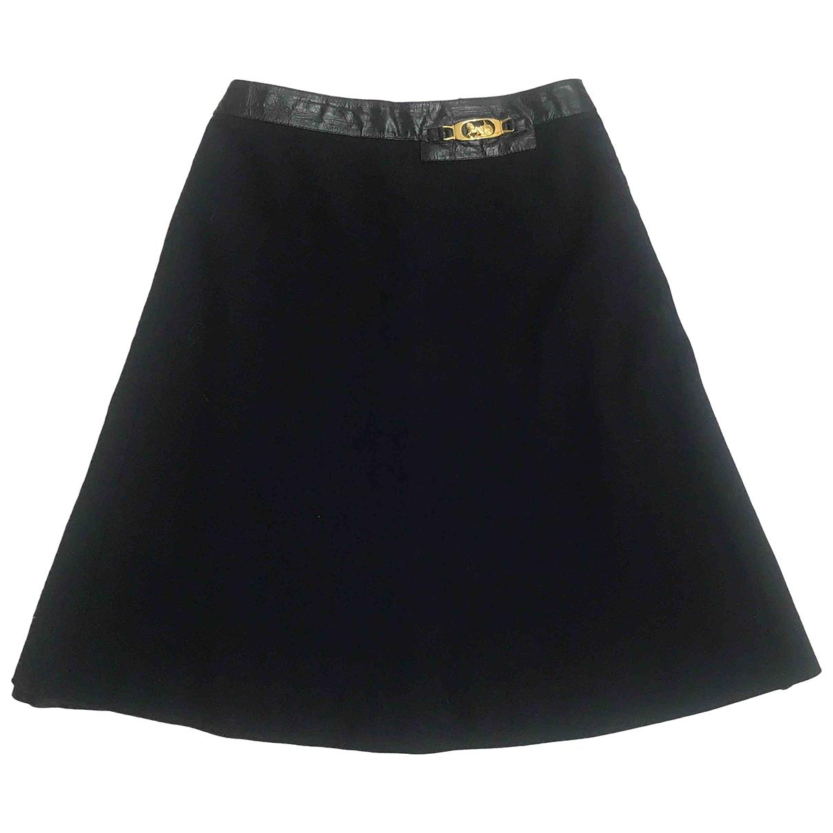 Celine \N Navy Wool skirt for Women 40 FR