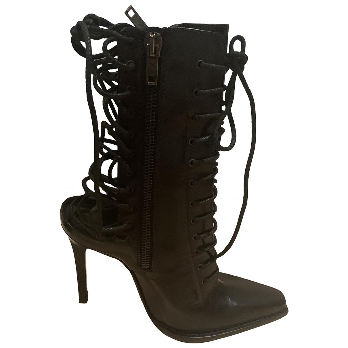 Haider Ackermann - Bottes   pour femme en cuir - noir