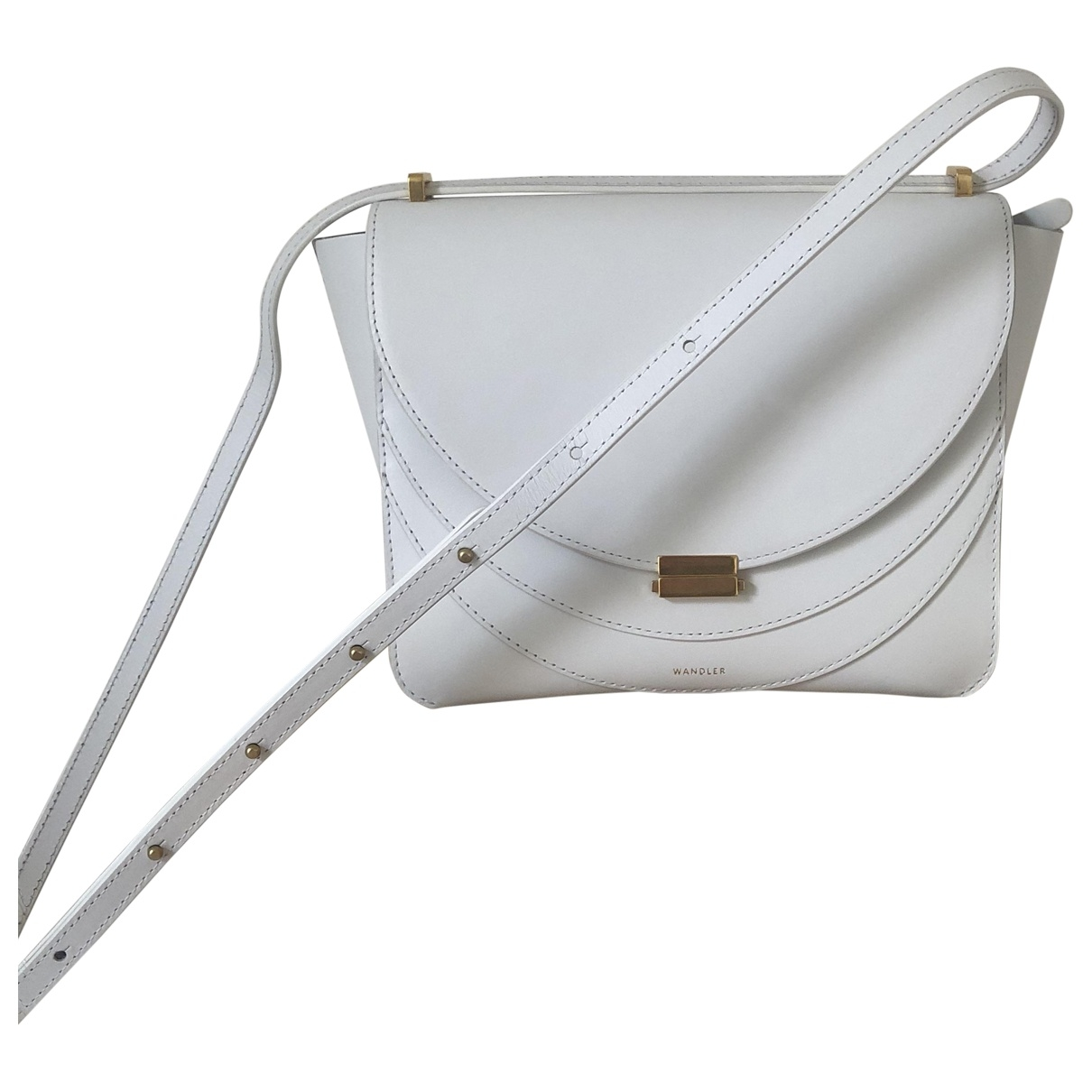 Wandler \N Handtasche in  Weiss Leder