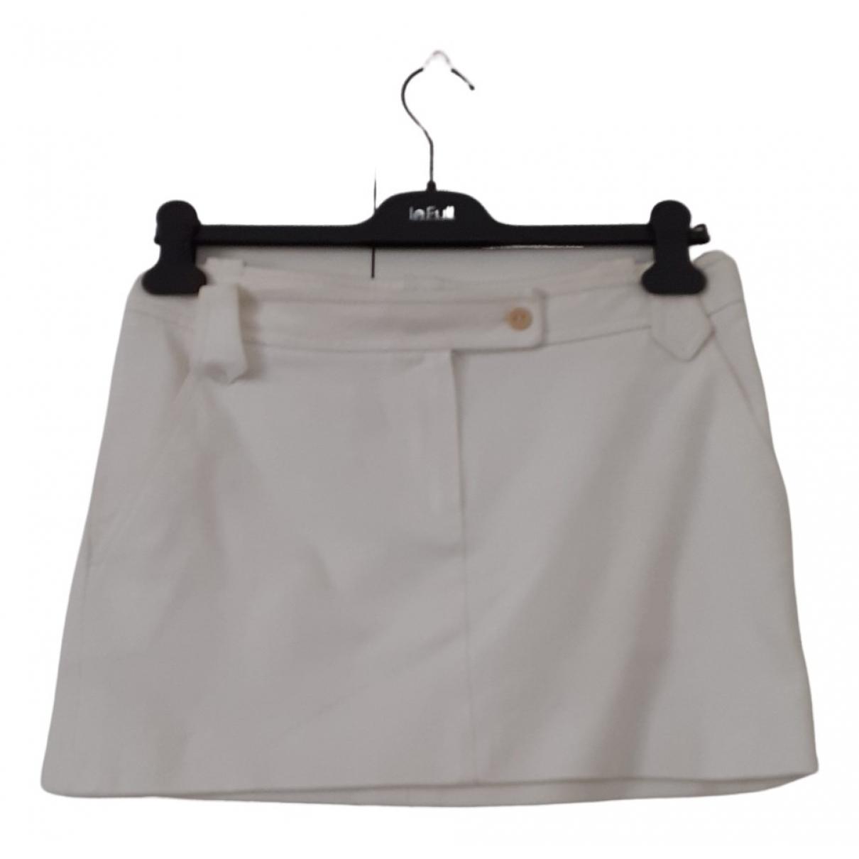 Incotex - Jupe   pour femme en coton - blanc