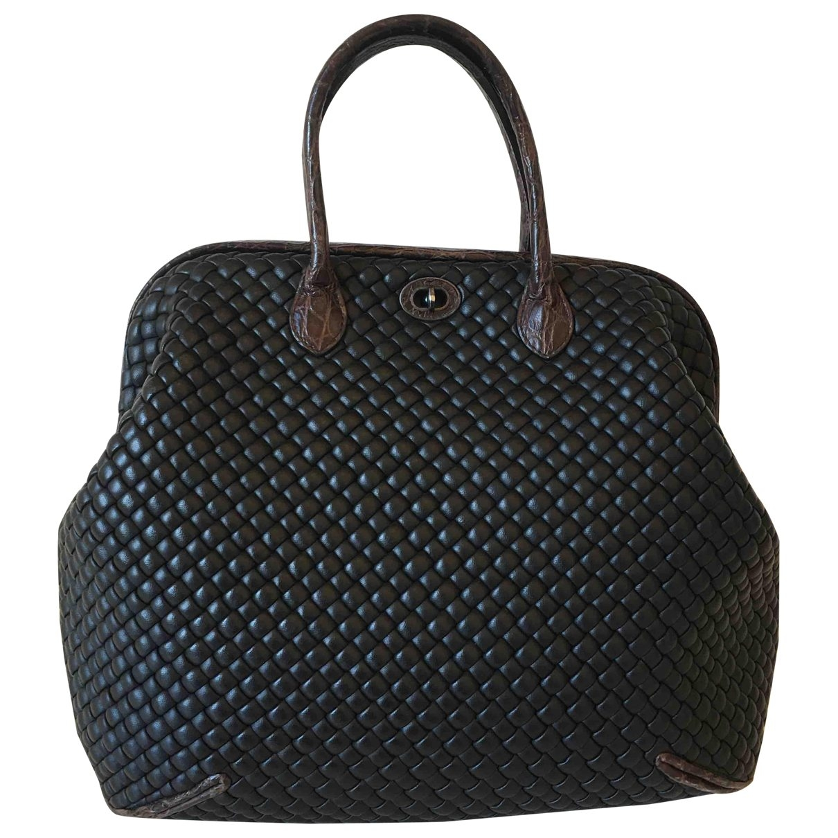 Bottega Veneta \N Black Leather handbag for Women \N