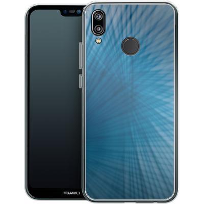 Huawei P20 Lite Silikon Handyhuelle - Blue Lines von Joy StClaire
