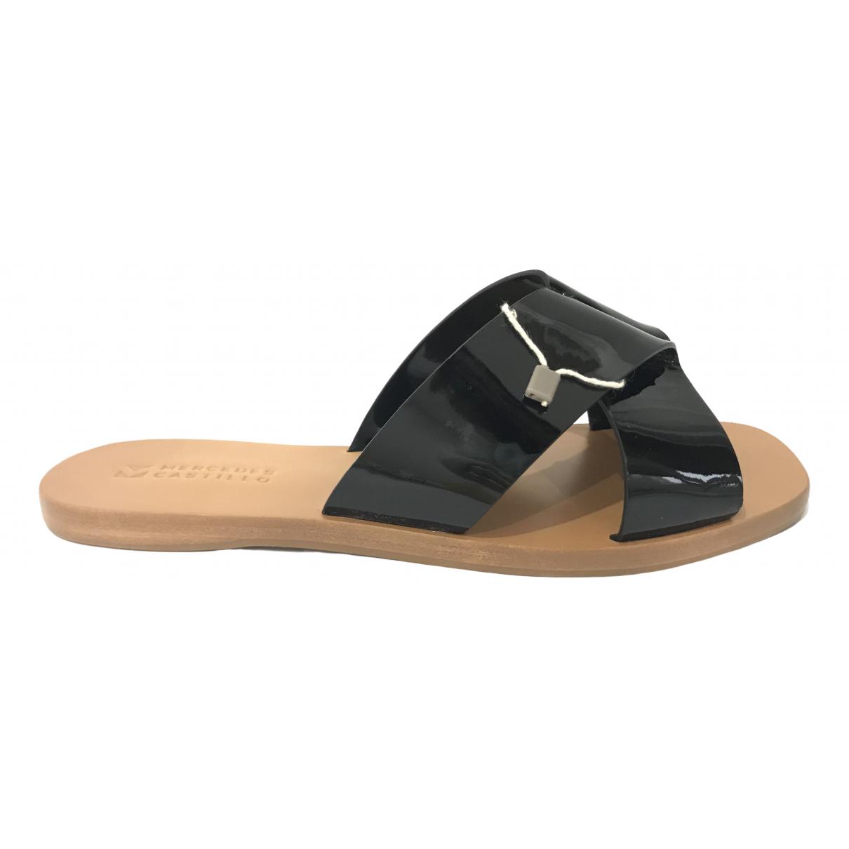Mercedes Castillo - Sandales   pour femme en cuir verni - noir
