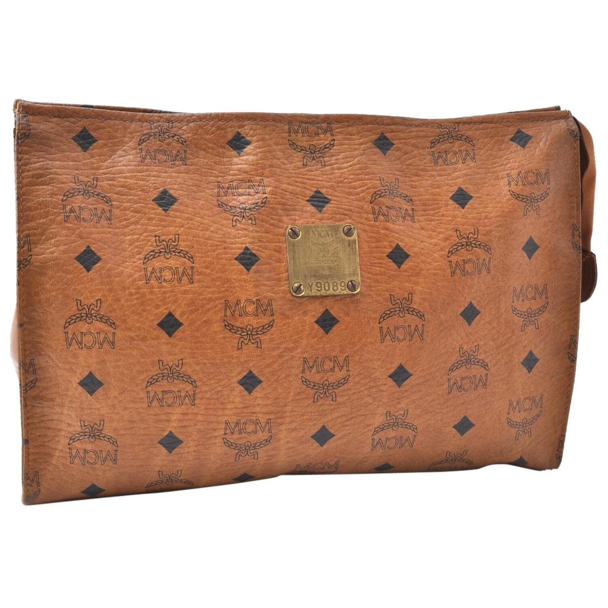 Mcm N Brown Leather Clutch bag for Women N