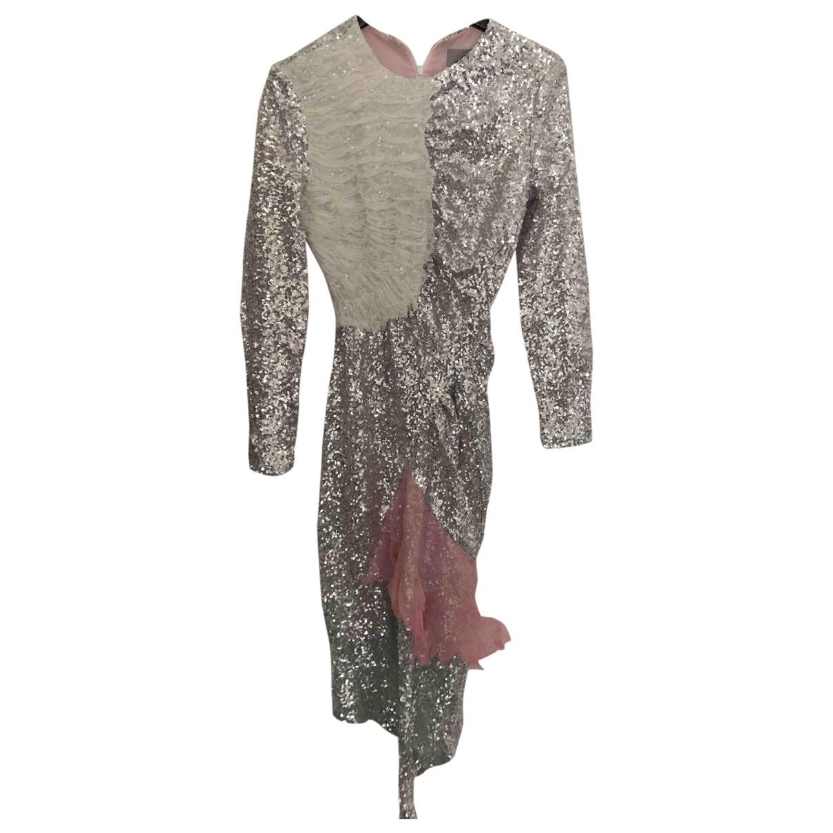 Preen By Thornton Bregazzi \N Kleid in  Silber Mit Pailletten
