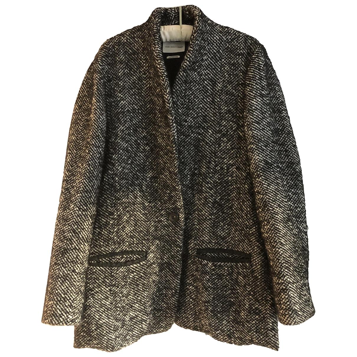 Isabel Marant Etoile \N Black Wool coat for Women 38 FR