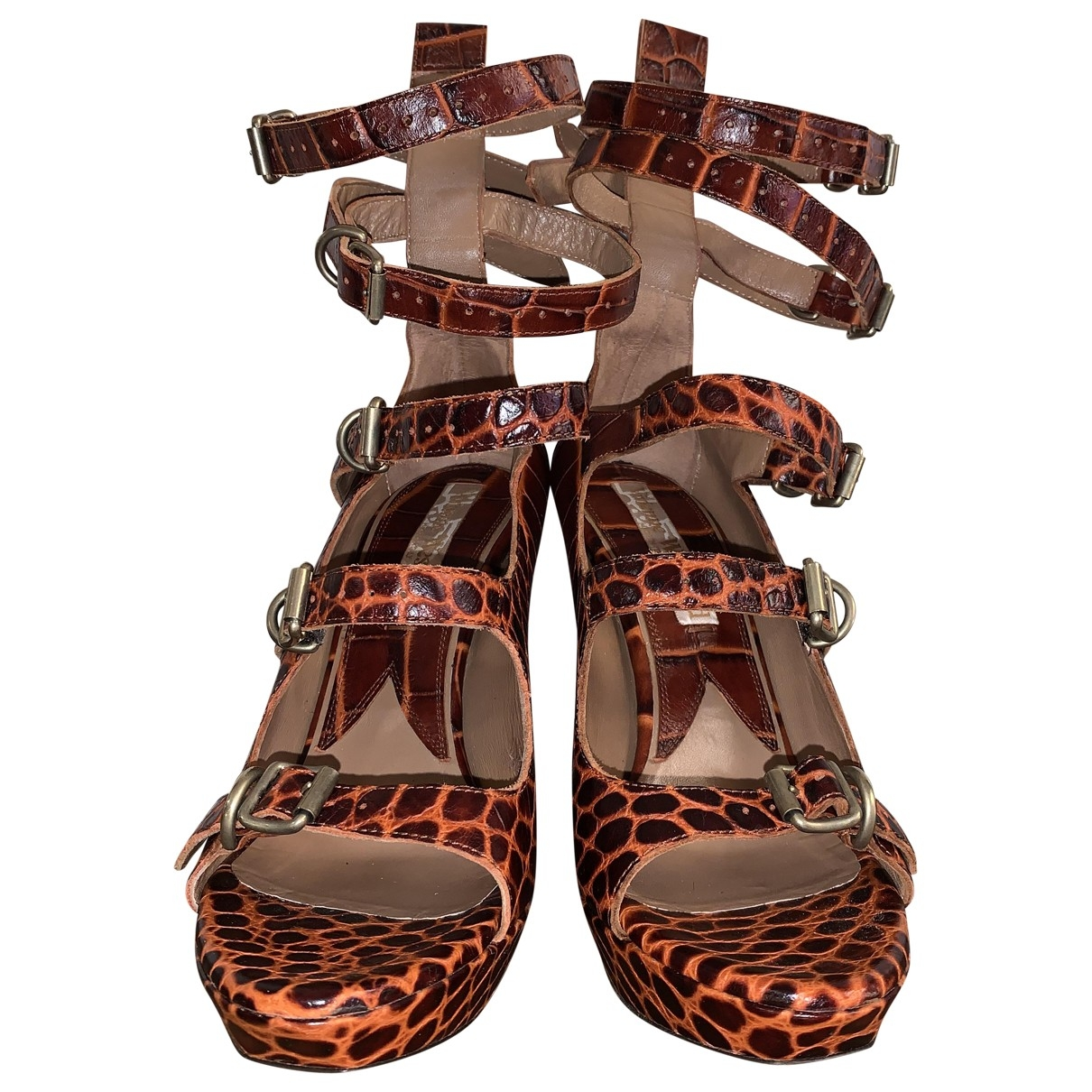 Vivienne Westwood \N Brown Leather Sandals for Women 39 EU