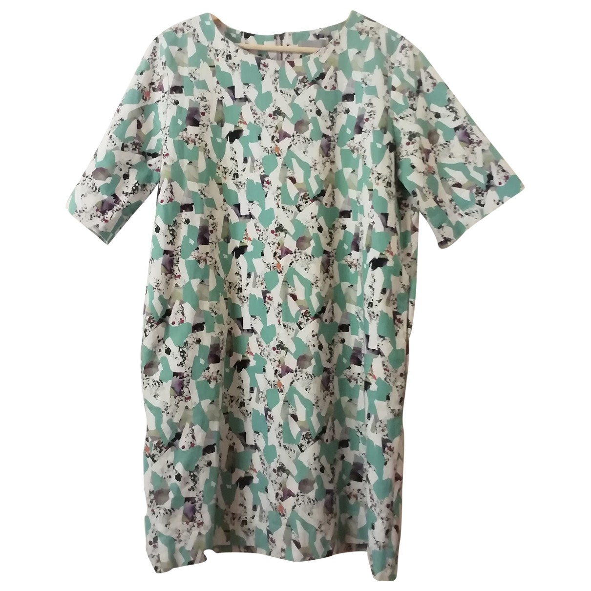 Cos - Robe   pour femme en coton - elasthane - multicolore