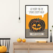 Halloween Pumpkin Wall Painting Without Frame
