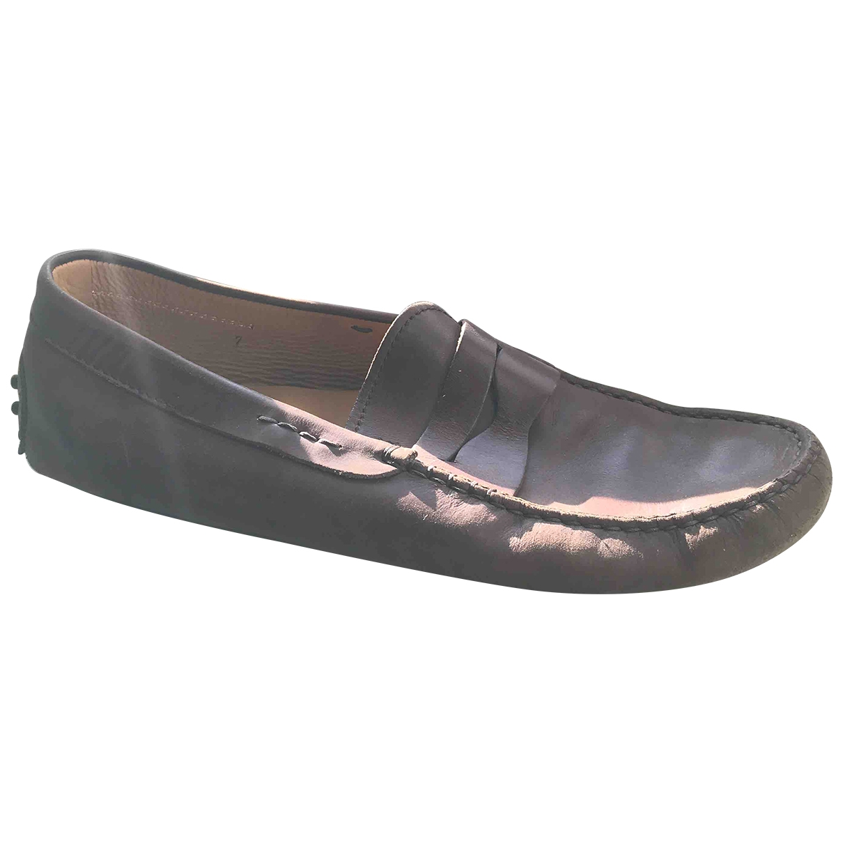 Tod's Gommino Brown Leather Flats for Men 7 UK