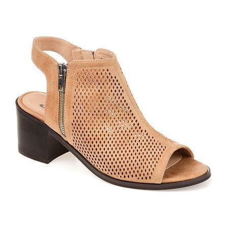 Journee Collection Womens Tibella Booties Block Heel, 8 1/2 Medium, Gray