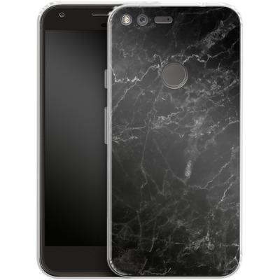 Google Pixel Silikon Handyhuelle - Midnight Marble von caseable Designs