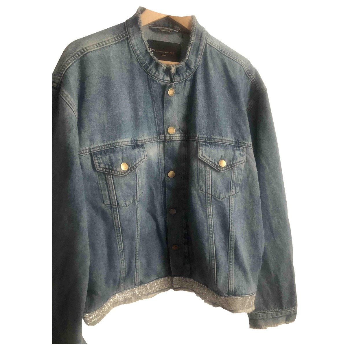 Alexandre Vauthier \N Jacke in  Blau Denim - Jeans