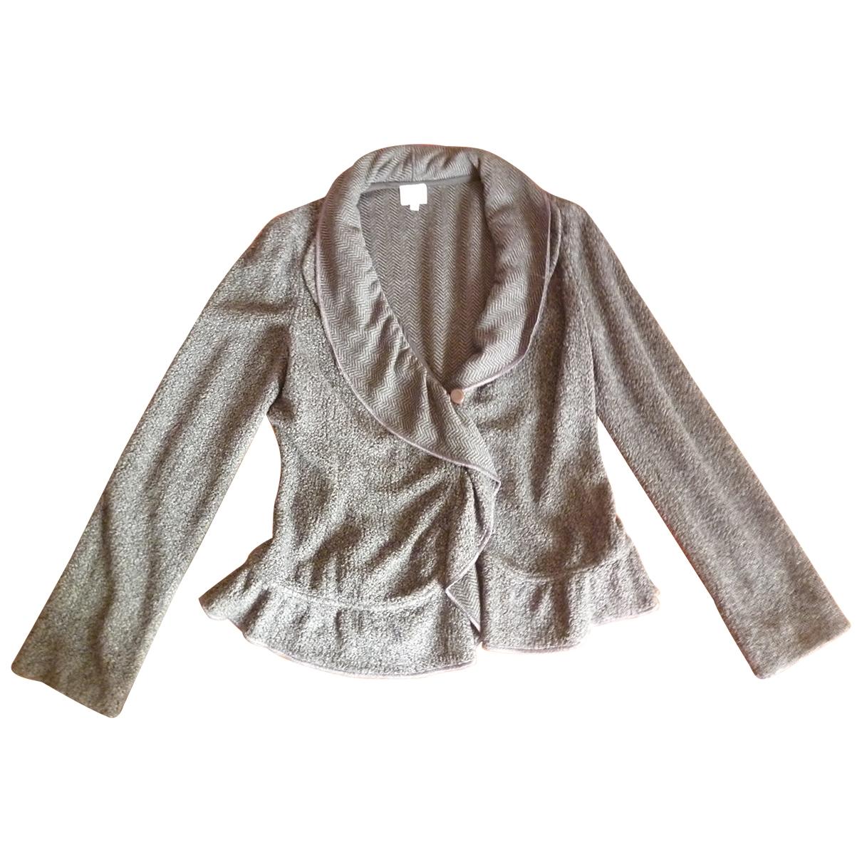 Armani Collezioni - Pull   pour femme en laine - anthracite