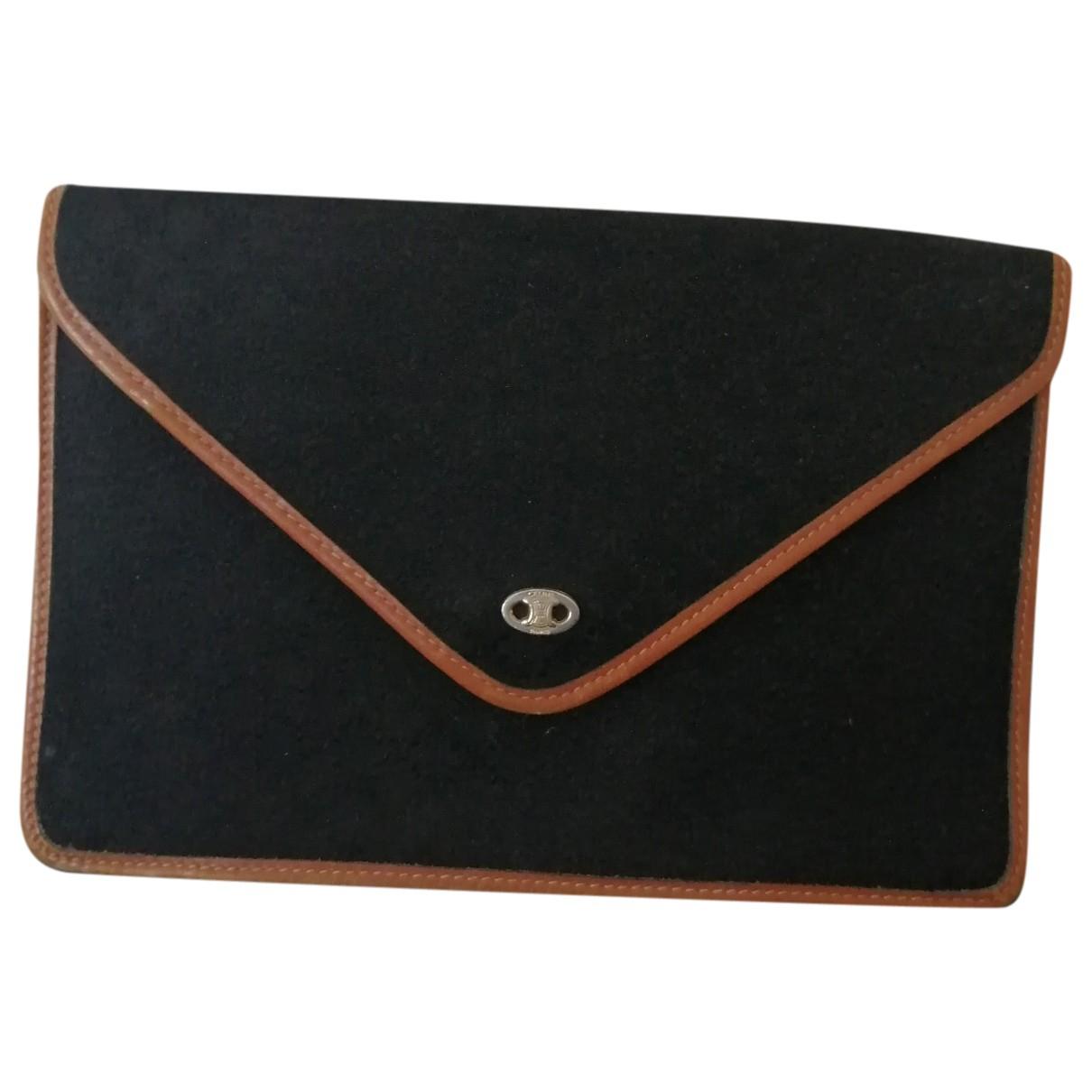 Celine \N Black Cloth Clutch bag for Women \N