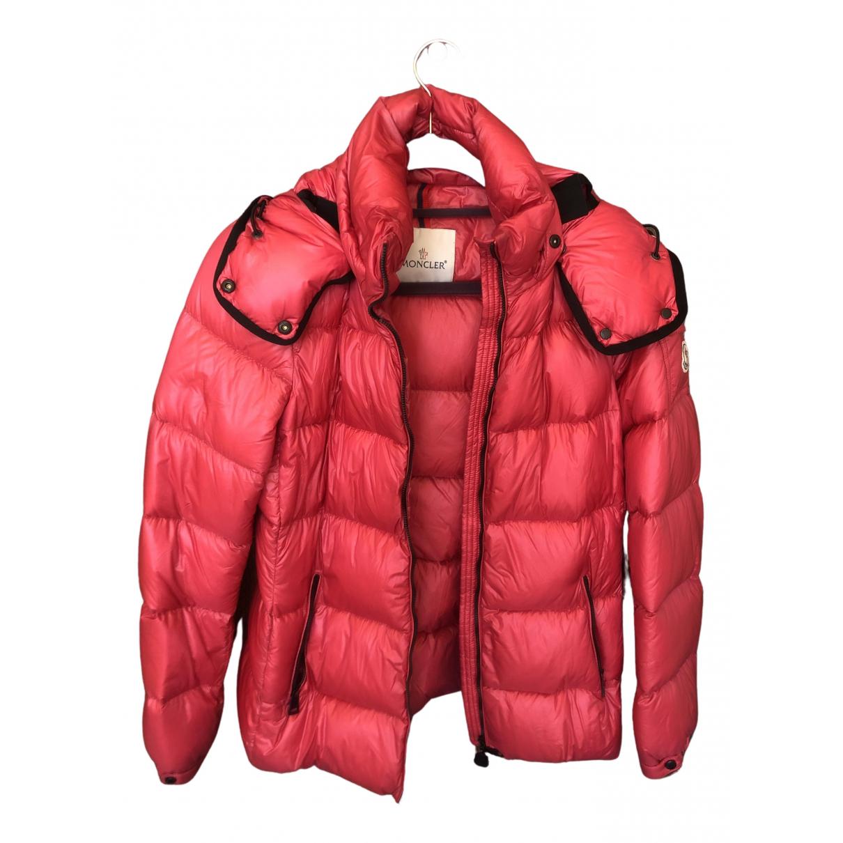 Moncler - Manteau Classic pour femme - rouge