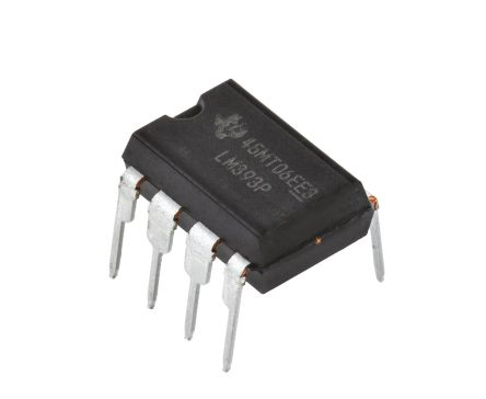 Texas Instruments LM393P , Dual Comparator, Open Collector O/P, 1.3μs 3 → 28 V 8-Pin PDIP