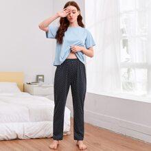 Polka Dot Short Sleeve PJ Set