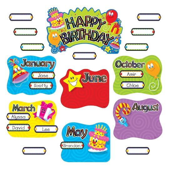 Trend Enterprises Birthday Festival Mini Bulletin Board Set | Michaels®